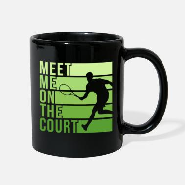 Tennis Match Tennis Court Design for a Tennis Player - Full Color Mug