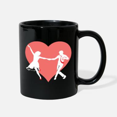 Learning Swing Dance Heart - Full Color Mug