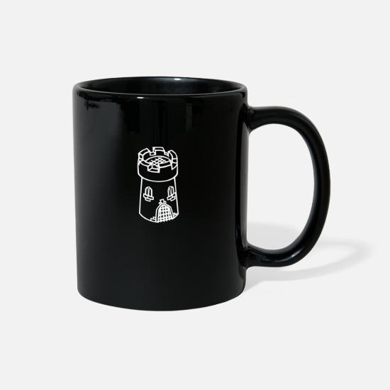 Rock Mugs & Drinkware - Medieval castle tower - Full Color Mug black