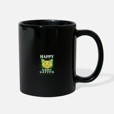 Scratch Happy St Catty's Day - St Patricks Day - Full Color Mug