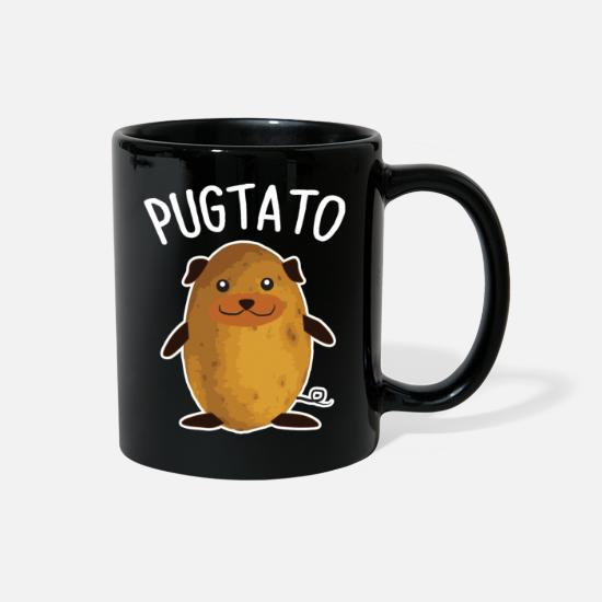 Pug Mugs & Drinkware - PUGTATO - Full Color Mug black