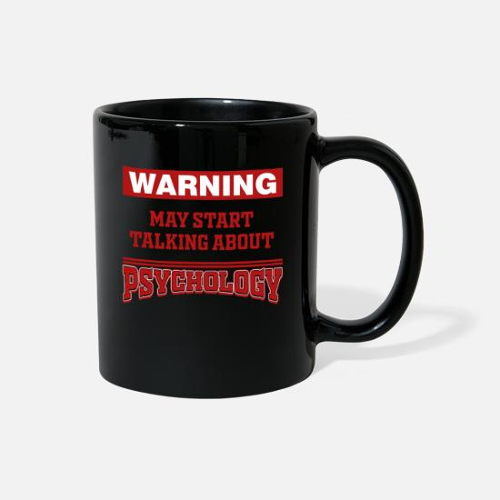 Psychology Mugs & Drinkware - talk psychology - Full Color Mug black