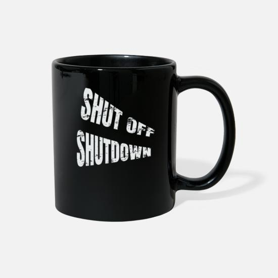Politics Mugs & Drinkware - Please shut off the shutdown, Mr. President - Full Color Mug black