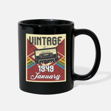 70th Birthday 70th Birthday Gifts Retro Vintage January 1949 - Full Color Mug