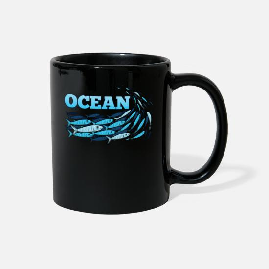 Gift Idea Mugs & Drinkware - Ocean Fish - Full Color Mug black