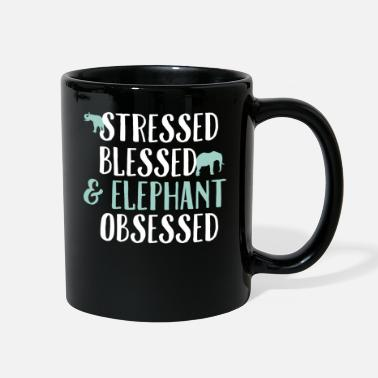 Thailand Elephant Stressed Blessed Obsessed Animal Gift - Full Color Mug