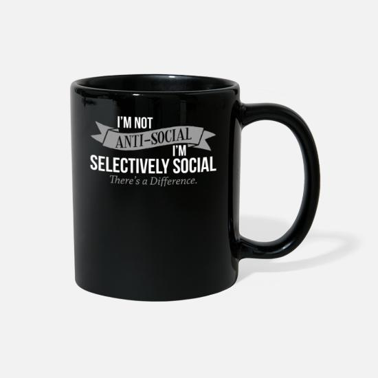 Glasses Mugs & Drinkware - Selective social - Full Color Mug black