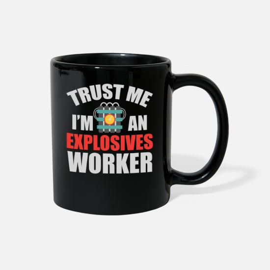 Army Mugs & Drinkware - Explosive Worker Bomb Disposal Expert Funny Gift - Full Color Mug black