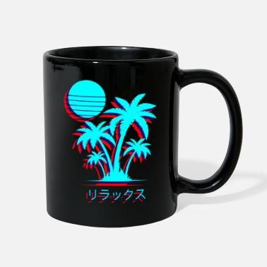 Geometric Palm Trees Paradise Japan - Full Color Mug