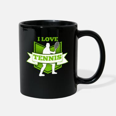 Ball Sport Tennis i love tennis - Full Color Mug
