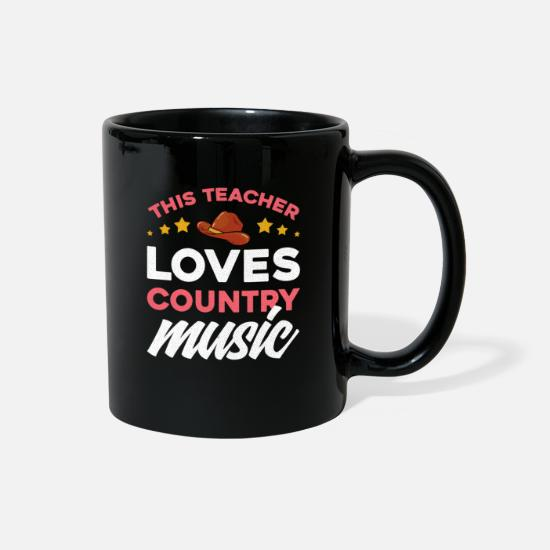 Country Mugs & Drinkware - Country Music Festival Design Country Lover - Full Color Mug black
