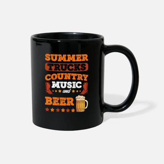 Country Mugs & Drinkware - Country Music Festival Design Country Music Lover - Full Color Mug black