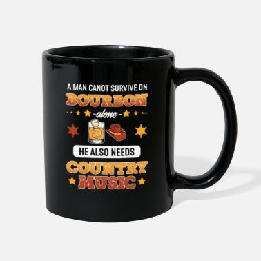 Line Dancing Mens Country Music Festival Design Bourbon Lover - Full Color Mug