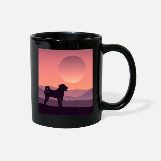 Mountains Mugs & Drinkware - Appenzell Mountain Dog - Full Color Mug black