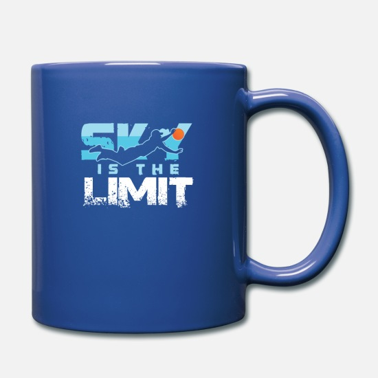 Skydiving Mugs & Drinkware - Sky Is The Limit Skydiving Skydivers Paragliding - Full Color Mug royal blue
