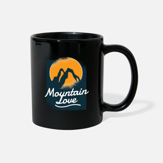 Climbing Mugs & Drinkware - Forest Mountaineering Mountain Love Nature Lovers - Full Color Mug black