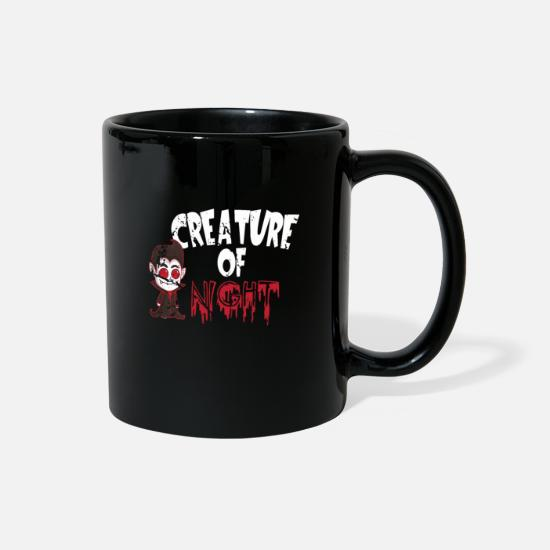 Full Moon Mugs & Drinkware - Hallows Eve Gift Vampire Creature Of The Night - Full Color Mug black