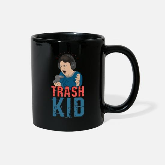 Console Mugs & Drinkware - Trash Kid Gaming - Full Color Mug black