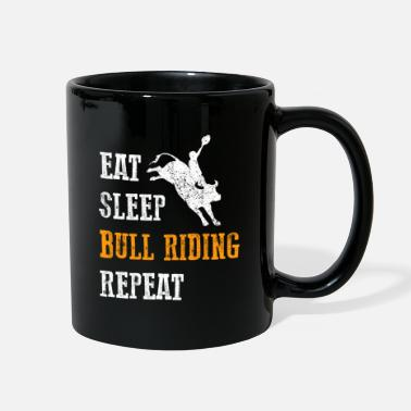 Cowgirl Eat Sleep Bull Riding Cowboy Rodeo Country Gift - Full Color Mug
