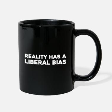 Human Rights Text: Reality has a liberal bias (white) - Full Color Mug