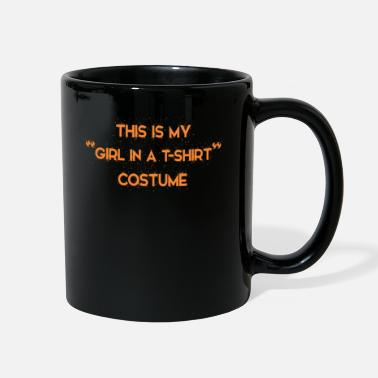 Guys Night Out This Is My Girl In T-shirt Costume Halloween Party - Full Color Mug