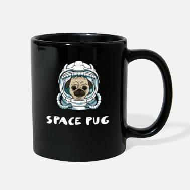 Travel Space Pug Funny Pug Gift - Full Color Mug