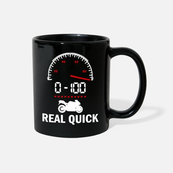 0-100 Mugs & Drinkware - 0 100 Real Quick - Full Color Mug black