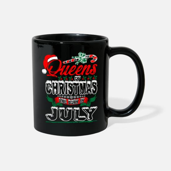 Born Mugs & Drinkware - Queens Of Christmas Are Born In July - Full Color Mug black