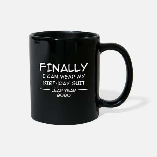 Year Mugs & Drinkware - Funny Leap Year February 2020 Birthday Gift - Full Color Mug black