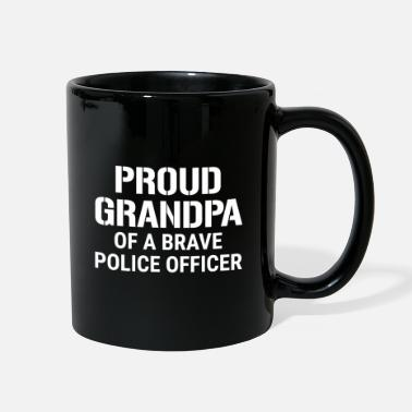 Proud Grandpa Of A Brave Police Officer T-shirt - Full Color Mug