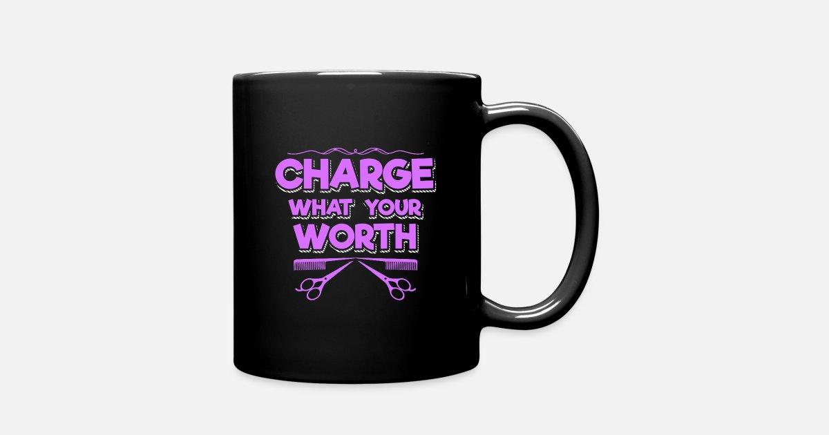 Hairdresser quotes salon humor Barber scissor Full Color Mug | Spreadshirt