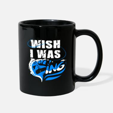 Carp WISH I WAS FISHING SHIRT - Full Color Mug