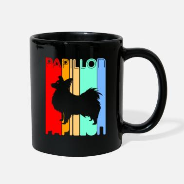 Color Papillon Puppy Dog Owner Mom Wife Husband Funny - Full Color Mug