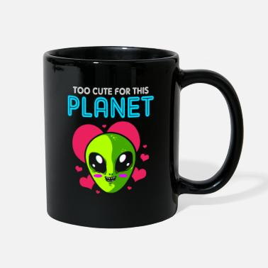 Martian Alien Too Cute Planet UFO Spaceship Saucer Galaxy - Full Color Mug