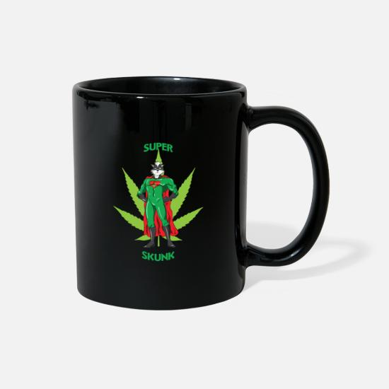 Marijuana Mugs & Drinkware - Super Skunk | Dope Marihuana Pot Stoner Smoker - Full Color Mug black