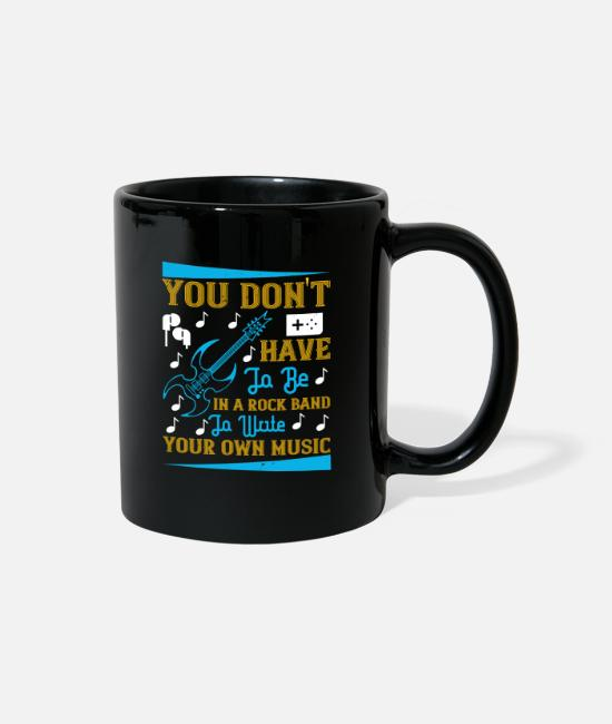 Headphones Mugs & Cups - Music - Write Your Own Music - Full Color Mug black