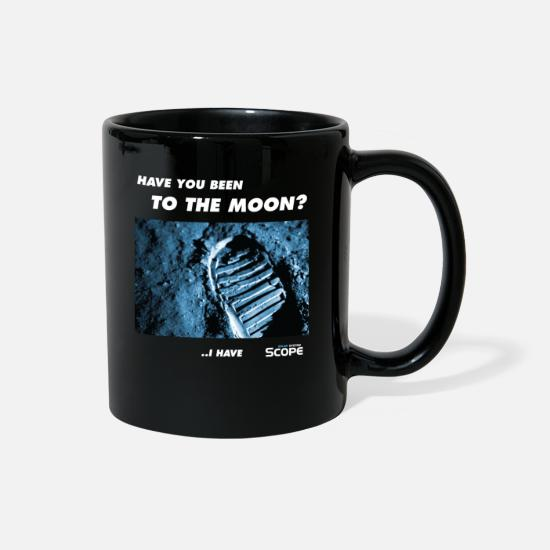 Solar Mugs & Drinkware - Solar System Scope : Have you been to the Moon - Full Color Mug black