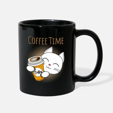 Coffee Coffee Time, coffee, cat, cats, kitten - Full Color Mug