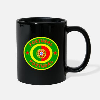 Portuguese Portugal circle with national flag gift Lisbon - Full Color Mug