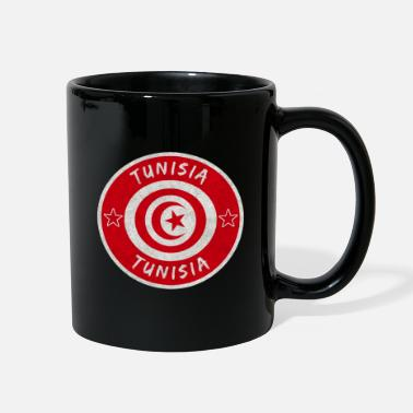 Tunisia Tunisia Vintage Circle with National Flag - Full Color Mug