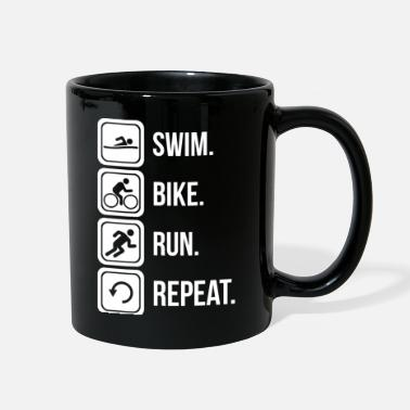 Bike Swim. Bike. Run. Repeat. - Full Color Mug
