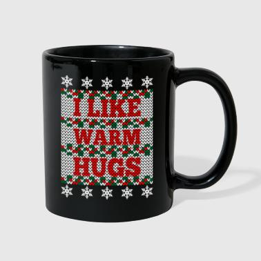 Kevin I like warm hugs ugly christmas sweatshirt Design - Full Color Mug