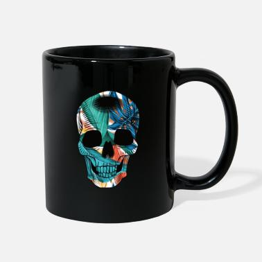 Summer Trend Skull pattern palm biker summer trend - Full Color Mug