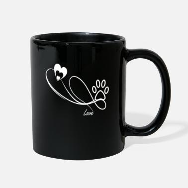 Pawprint Heart with a pawprint - Full Color Mug