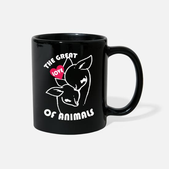 Love Mugs & Drinkware - The great love of animal - Full Color Mug black