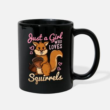 Just Fly Squirrel Gift Just a Girl Who Loves Squirrels - Full Color Mug