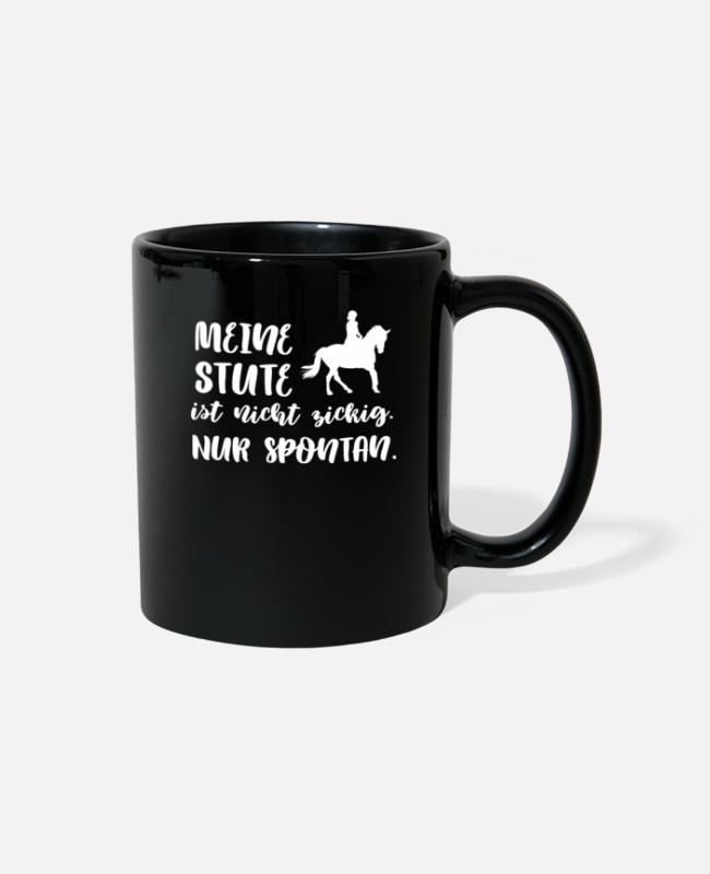 Mustang Mugs & Cups - Horse t shirt - Full Color Mug black