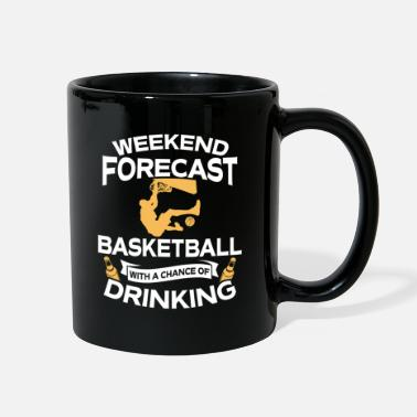 Weekend Weekend Forecast Basketball With Drinking - Full Color Mug