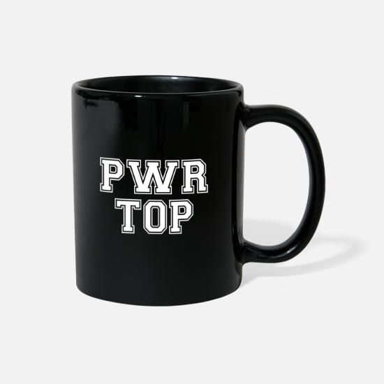 Gift Idea Mugs & Drinkware - Power Top - active sexual orientation - Full Color Mug black