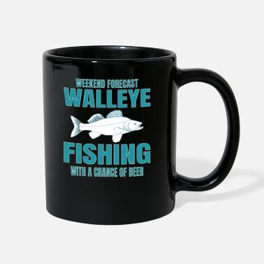 Fishing WALLEYE FISHING: Walleye Fishing And Beer - Full Color Mug